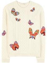 Valentino Embroidered Alpaca And Yak Sweater