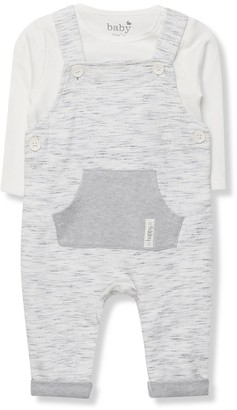 M&Co Dungarees and white bodysuit set (Newborn-18mths)