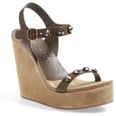 Pedro Garcia Women's 'Trilian' Swarovski Stud Platform Wedge Sandal