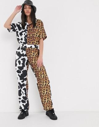 Chinatown Market mixed animal print pants co-ord