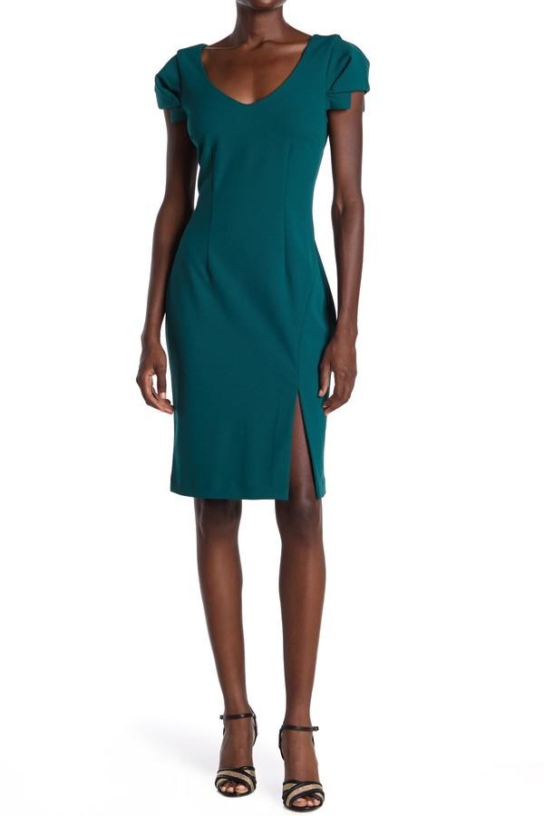 trina Trina Turk Tine V-Neck Sheath Dress