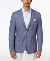 Tallia Men's Big and Tall Slim-Fit Blue/Black Knit Sport Coat