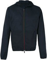 Emporio Armani hooded jacket - men - Cotton/Linen/Flax/Polyamide/Cupro - 48