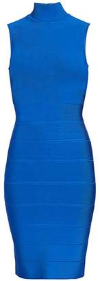 Herve Leger Icon Mockneck Dress