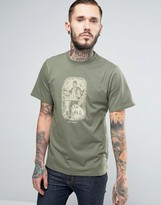 Columbia Ward Ridge T-shirt Woodland Drawing Print In Green