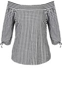 City Chic Gingham Top