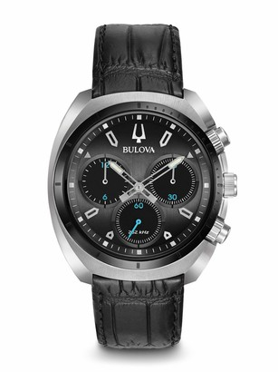Bulova Men's Curv Collection Stainless Steel Analog-Quartz Watch with Leather-Alligator Strap