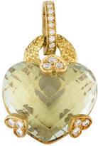 Judith Ripka 18K Prasiolite Heart Pendant
