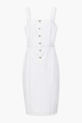 Forever 21 Button-Front Overall Dress