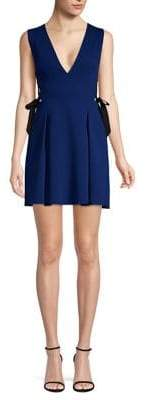 BCBGMAXAZRIA Women's Kalie Sleeveless Side-Tie Fit-&-Flare Dress - Deep Royal - Size 12