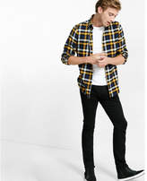 Express flannel small check shirt