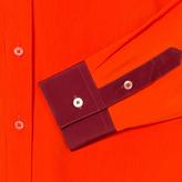Paul Smith Women's Orange Textured Silk-Blend Shirt
