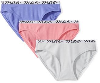 Mae Amazon Brand Women's Shine Logo Elastic Modal Bikini 3 Pack