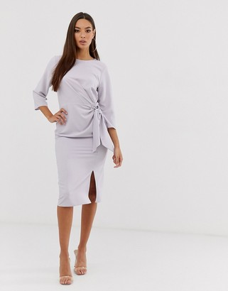 ASOS DESIGN wrap detail midi dress