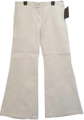 Edun White Cotton Trousers