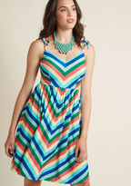 SP217MCD1039C On busy days and laid-back afternoons alike, you're always your best and brightest. This rainbow sundress - with its chevron stripes, tied shoulder straps, and soft jersey knit - is an opportunity for you to exude such zeal with ravishing results. W