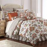 Rose Tree Lisburn Reversible King Comforter Set in Orange