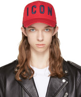 DSQUARED2 Red 'Icon' Cap
