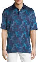 Bugatchi Abstract Knit Polo Shirt