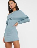 Asos Design DESIGN off the shoulder bodycon sweat dress