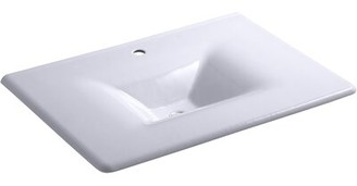 Kohler Iron/impressions 31-in Vanity-top Bathroom Sink with 8-in Widespread Faucet Holes