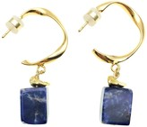 Lapis Farra Rectangle Lazuli Hook Earrings
