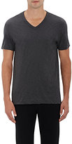 Theory MEN'S GASKELL COTTON V-NECK T-SHIRT-DARK GREY SIZE S