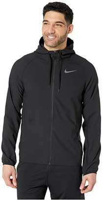 Nike Flex Vent Max Hooded Full Zip Jacket (Black/Dark Grey) Men's Clothing