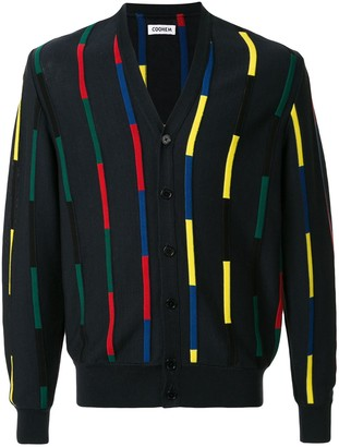 Coohem knitted colour blocked cardigan