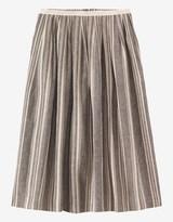 Toast Ticking Stripe Linen Skirt