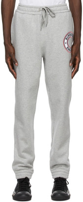 Burberry Grey Addison Logo Graphic Lounge Pants