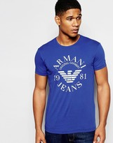 Armani Jeans T-shirt With Eagle Logo In Slim Fit