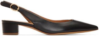 Mansur Gavriel Black Slingback Heels