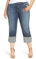 Plus Size Women's Caslon Cuffed Crop Jeans