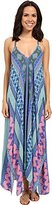 Hale Bob Women's Hide and Go Chic Handkerchief Hem Maxi Dress