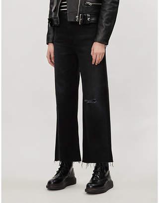 AG Jeans Etta wide-leg super high-rise jeans