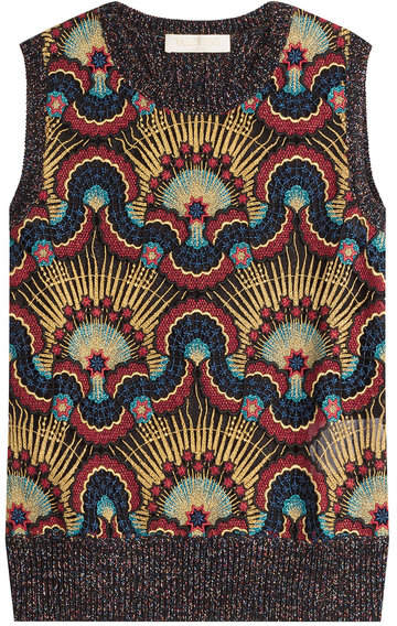 Valentino Wool Vest with Metallic Thread