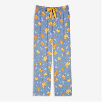 Joe Fresh Women's Print Sleep Pants, Blue (Size L)