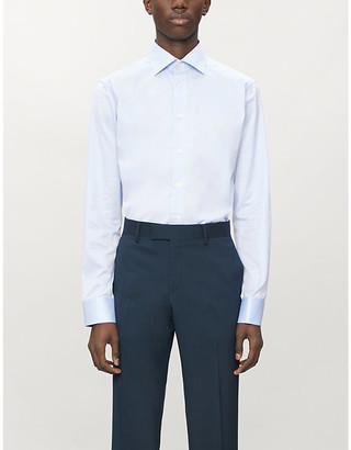 Eton Paisley-print slim-fit cotton-twill shirt