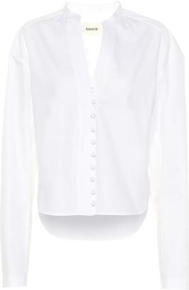 KHAITE Charlotte cotton top