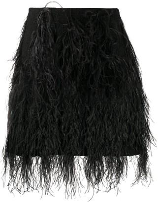 Giambattista Valli Feather Skirt
