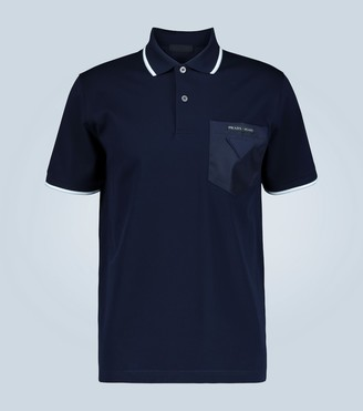 Prada Contrast pocket polo shirt