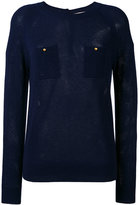 Vanessa Bruno chest pockets slim-fit jumper - women - Cashmere/Wool - 36