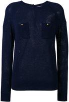 Vanessa Bruno chest pockets slim-fit jumper - women - Cashmere/Wool - 40