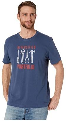 Life is Good Handyman's Portfolio Crushertm Tee (Darkest Blue) Men's T Shirt
