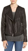 Andrew Marc 'Riley' Textured Leather Moto Jacket