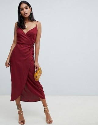 Asos Design DESIGN cami wrap maxi dress