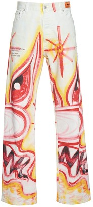 Heron Preston X Kenny Scharf Denim Jeans