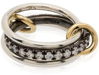 Spinelli Kilcollin Petunia stacked diamond ring