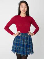 American Apparel Plaid Chiffon Double-Layered Shirred Waist Skirt